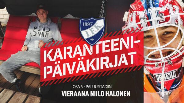 Karanteenipäiväkirjat: OSA 6 – Niilo Halonen