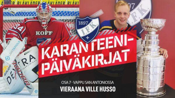Karanteenipäiväkirjat: Osa 7 – vieraana Ville Husso