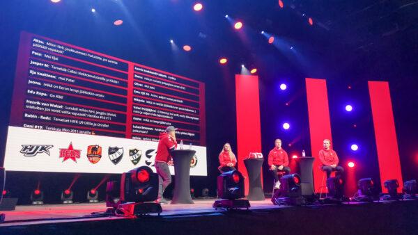HIFK:n ja yhteistyöseurojen junnutsempparit palkittiin suorassa lähetyksessä