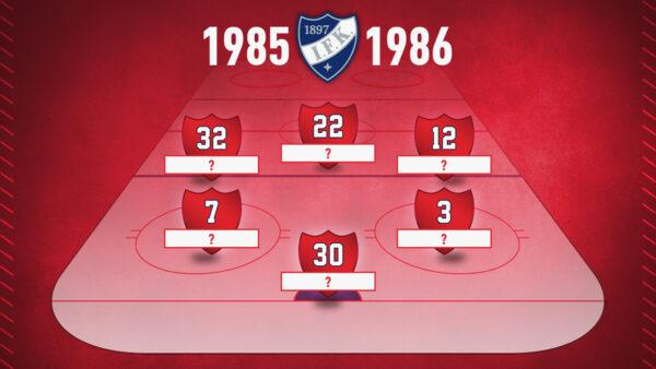 PUUTTUVAT NIMET: Muistatko nämä pelaajat hopeakaudelta 1985-1986? – klikkaa tästä!